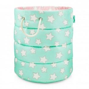 Koš na hračky Pink / Mint Stars
