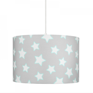 Dětský lustr - Grey Stars