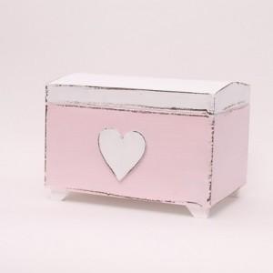 Truhla na poklady růžová - Srdce