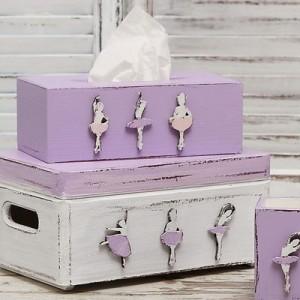 Krabička na kapesníky fialová - Baletky