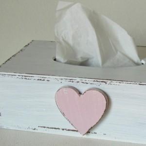 Krabička na kapesníky - Srdce růžové
