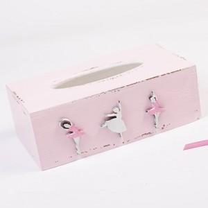 Krabička na kapesníky růžová - Baletky