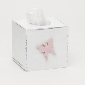 Krabička na kapesníky - Motýl růžový