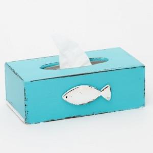 Krabička na kapesníky tyrkysová - Rybka