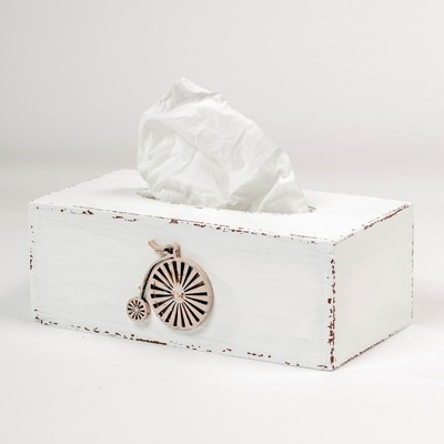 Krabička na kapesníky - Bílá retro