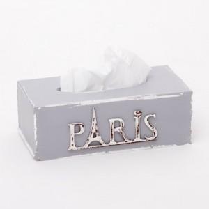 Krabička na kapesníky šedá - Paris
