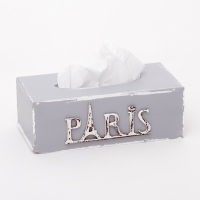 Krabička na kapesníky - Šedá Paris