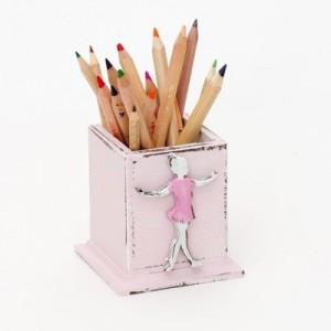 Hrnek na tužky růžový - Baletka