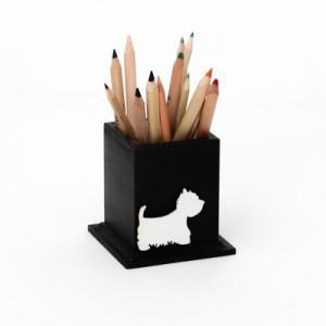 Hrnek na tužky černý - Pejsek