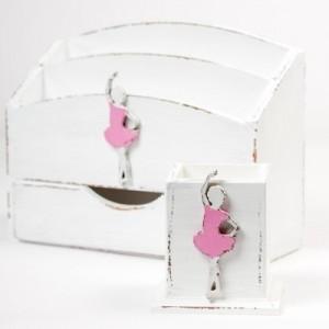 Hrnek na tužky- Baletka růžová
