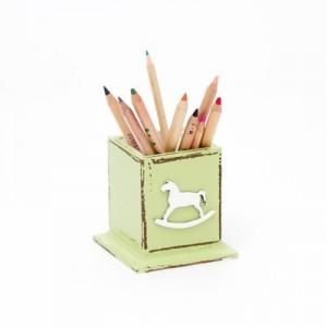 Hrnek na tužky zelený - Koník