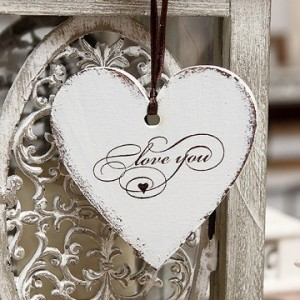 Srdce 10 cm - Love you