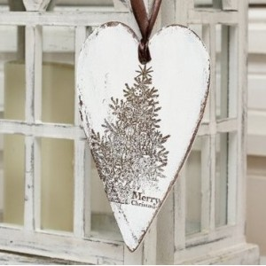 Srdce 20,5cm - Merry Christmas