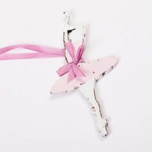 Závěska 15 cm - Baletka růžová