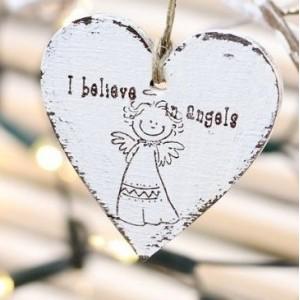 SKLADEM - Srdce 10 cm - I believe Angels