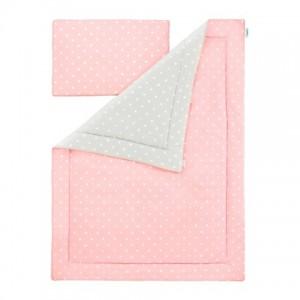 Souprava polštář a přikrývka - Lovely Dots Pink / Grey