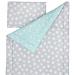 Souprava polštář a přikrývka 140x200 - Mint / Grey Stars
