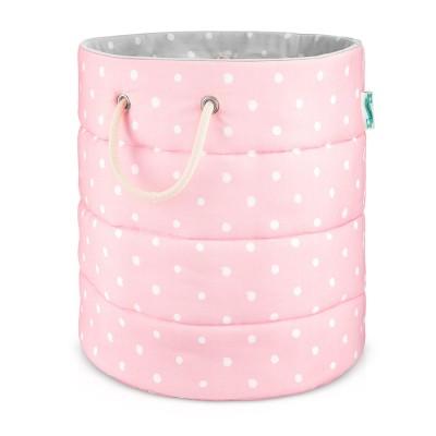 Koš na hračky Lovely Dots Pink / Grey